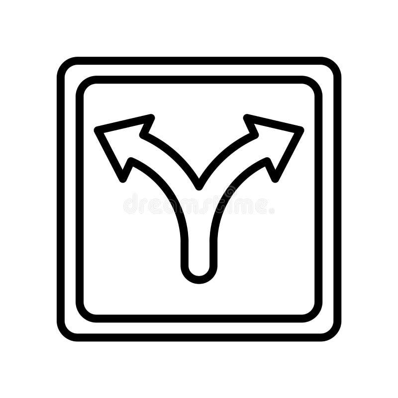 Verkehrszeichen-Ikonenvektorzeichen und -symbol lokalisiert auf weißem BAC stock abbildung