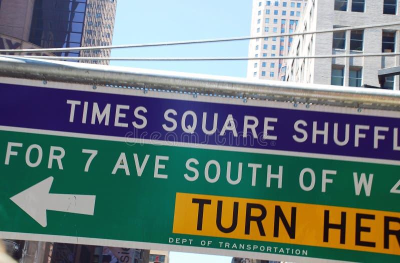 Verkehrszeichen innen New York lizenzfreie stockfotografie