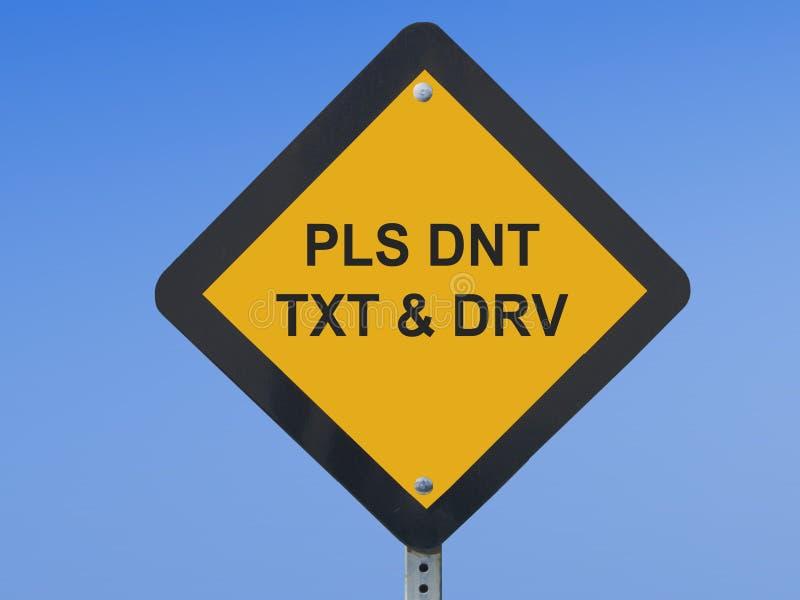 Verkehrszeichen Texting lizenzfreie stockfotos
