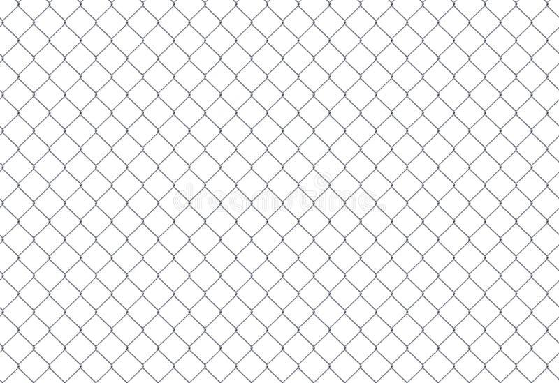 Verketten Sie Zaun Stahlgitter lizenzfreie abbildung
