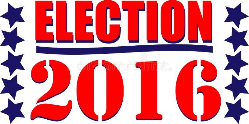 Verkiezing 2016 vector illustratie