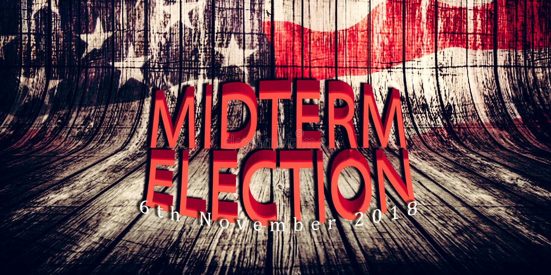 Verkiezing Dag 6 November, 2018 met achtergrond van het de vlagconcept van de V.S. de Amerikaanse vector illustratie