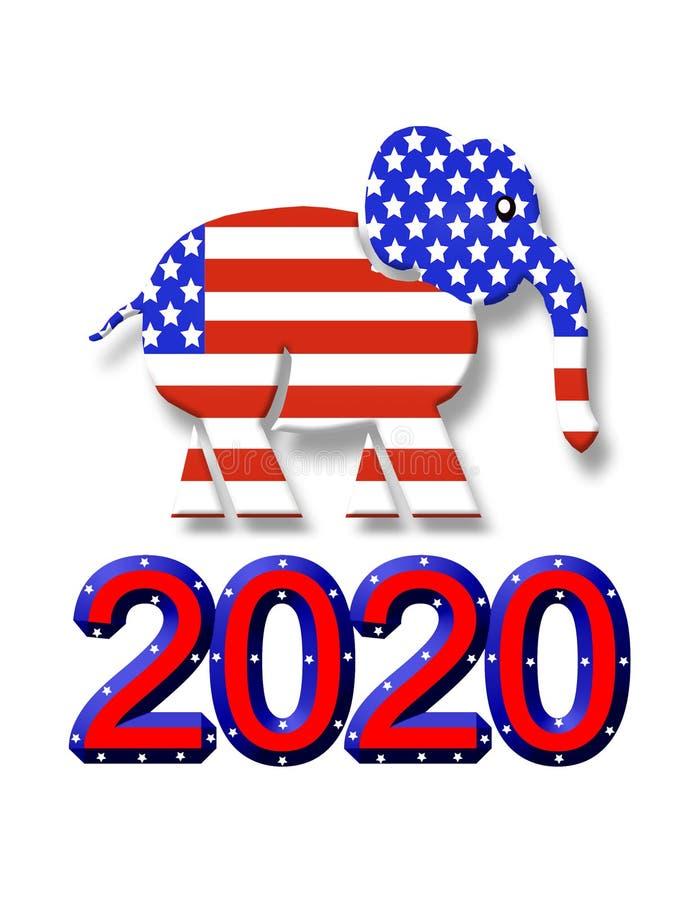 Verkiezing 2020 GOP-grafisch partijsymbool vector illustratie
