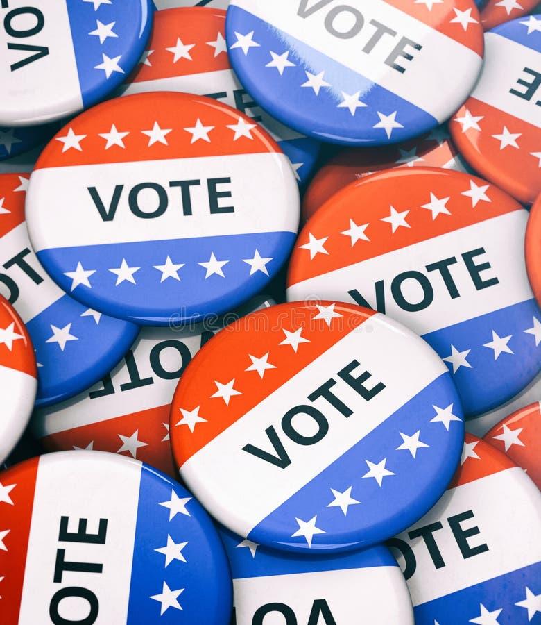 Verkiezing: Stapel van Stemspelden in Stapel worden geschikt die vector illustratie
