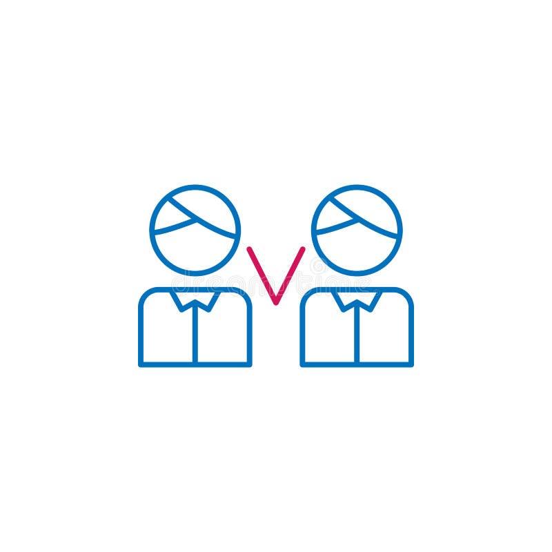 Verkiezingen, debat, mensenoverzicht gekleurd pictogram Kan voor Web, embleem, mobiele toepassing, UI, UX worden gebruikt royalty-vrije illustratie