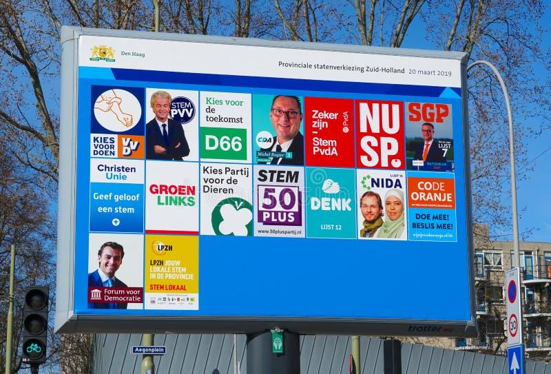 Verkiezingen in Nederland, maart 2019 stock afbeelding