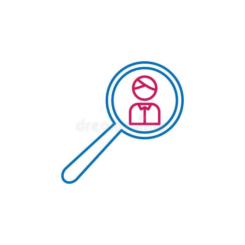 Verkiezingen, onderzoek, mensenoverzicht gekleurd pictogram Kan voor Web, embleem, mobiele toepassing, UI, UX worden gebruikt royalty-vrije illustratie