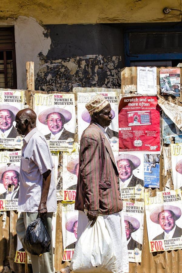 verkiezingscampagne in Oeganda royalty-vrije stock foto's