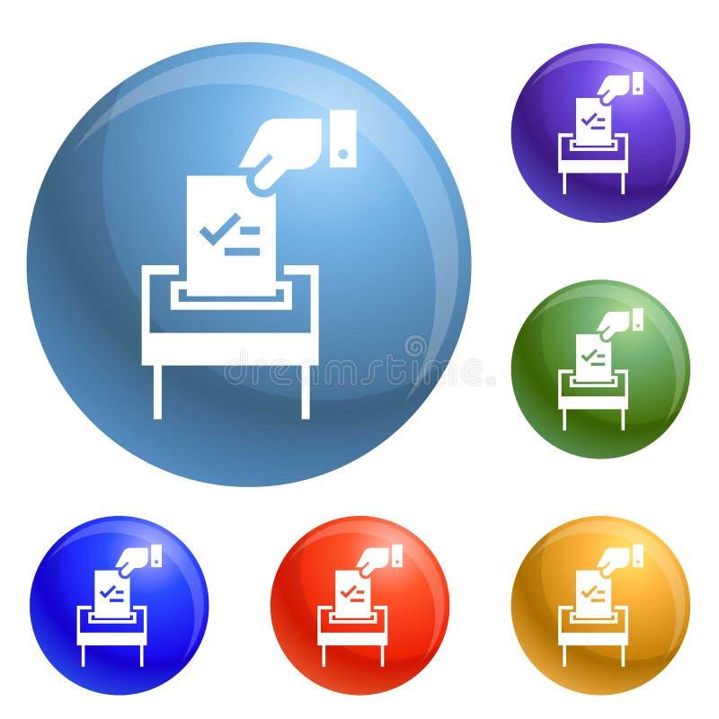 Verkiezingsdocument pictogrammen geplaatst vector royalty-vrije illustratie
