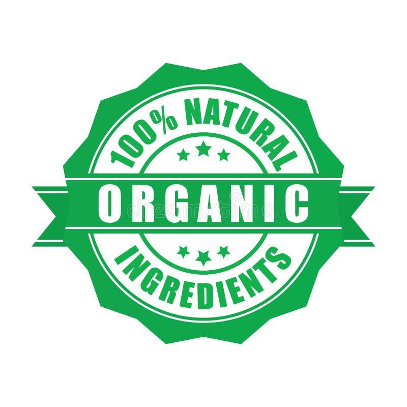 Verklaarde hoogte - kwaliteits organische zegel vectoreps10 stock illustratie