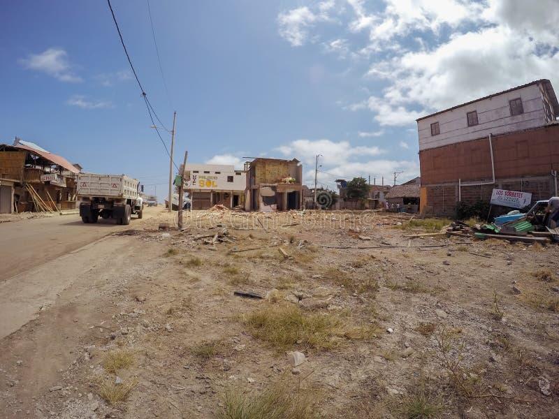 Verklaarde noodtoestand, de Aardbeving van Ecuador, Zuid-Amerika royalty-vrije stock afbeelding