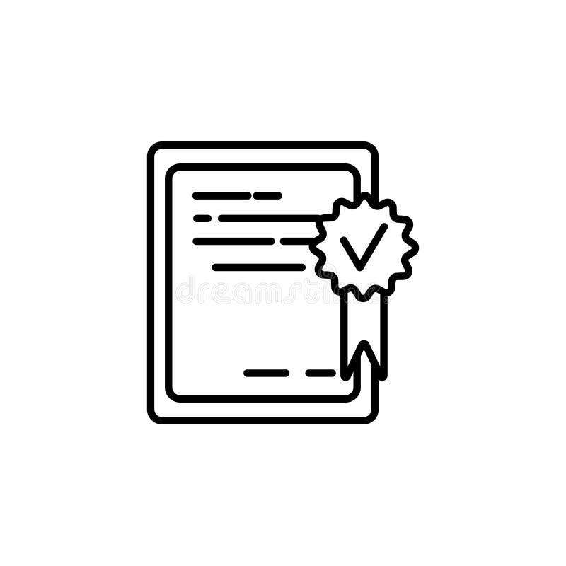 verklaarde tablet Element van het pictogram van het baangesprek voor mobiel concept en Web apps De dunne lijn verklaarde tablet k vector illustratie