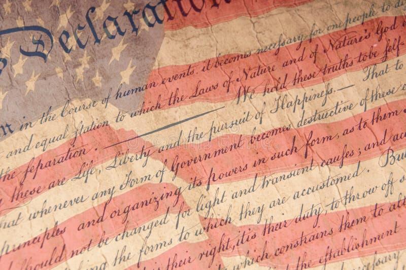 Verklaring van Dichte Omhooggaand van de Onafhankelijkheid royalty-vrije stock foto