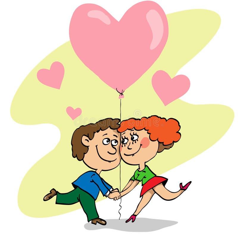 Verklaring van liefde royalty-vrije illustratie