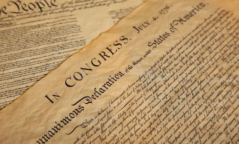 Verklaring van onafhankelijkheid stock foto