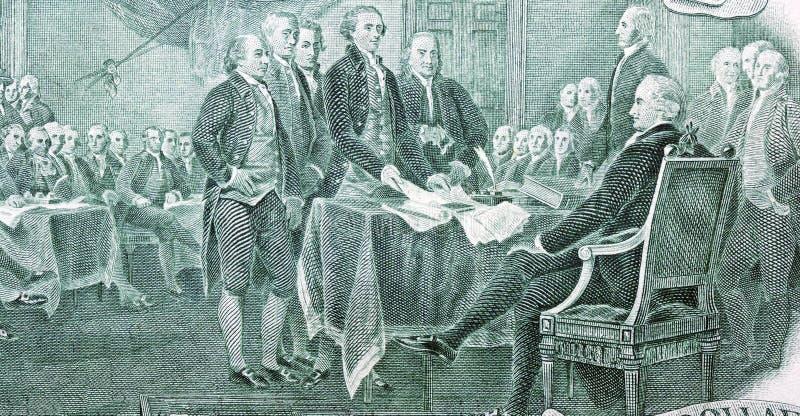 Verklaring van Onafhankelijkheid stock afbeelding