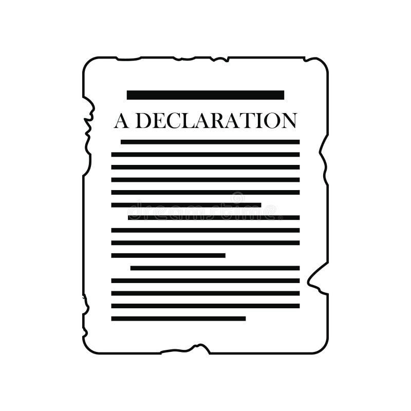 Verklarings zwart pictogram stock illustratie