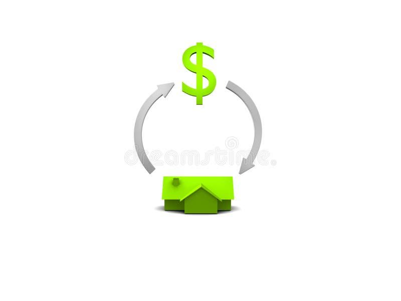 verklig cirkuleringsgodsinvestering stock illustrationer