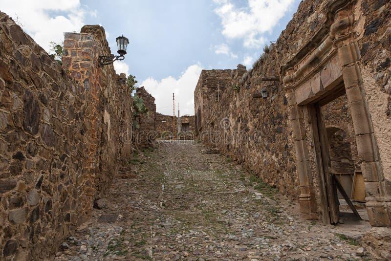 Verklig de Catorce Mexico övergiven silverstad royaltyfri fotografi