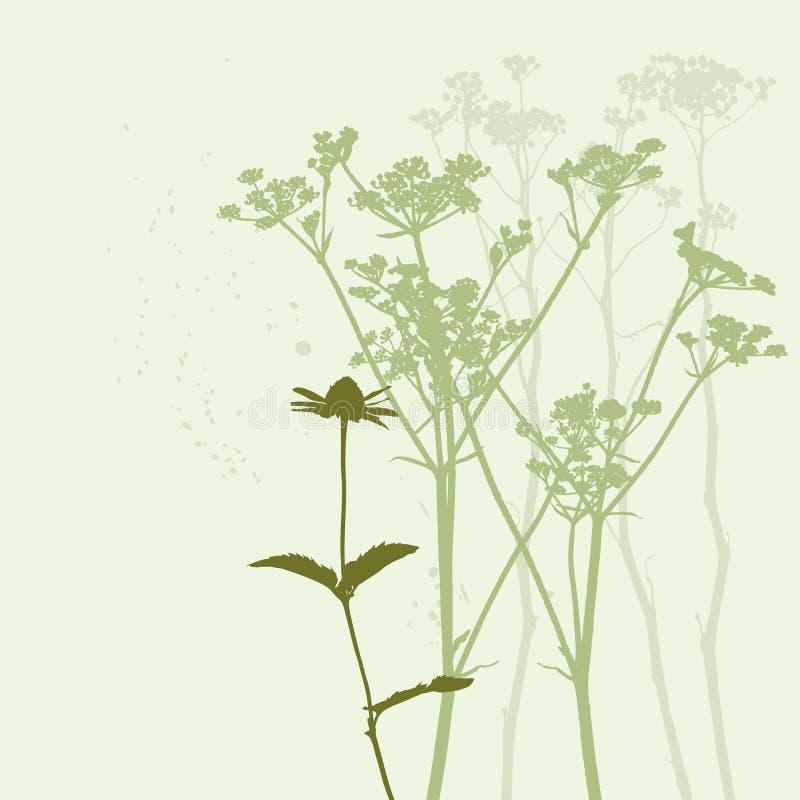 verklig silhouette för gräs royaltyfri illustrationer