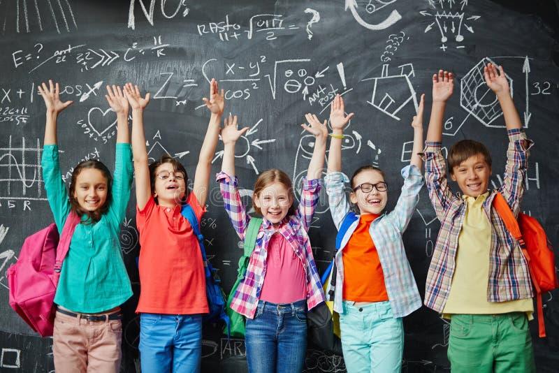 verklig skola för barnklassrumkurs arkivbilder