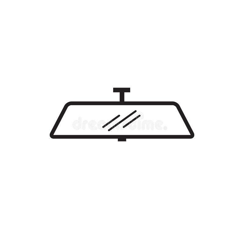 Verklig symbol för vektor för bilspegel royaltyfri bild