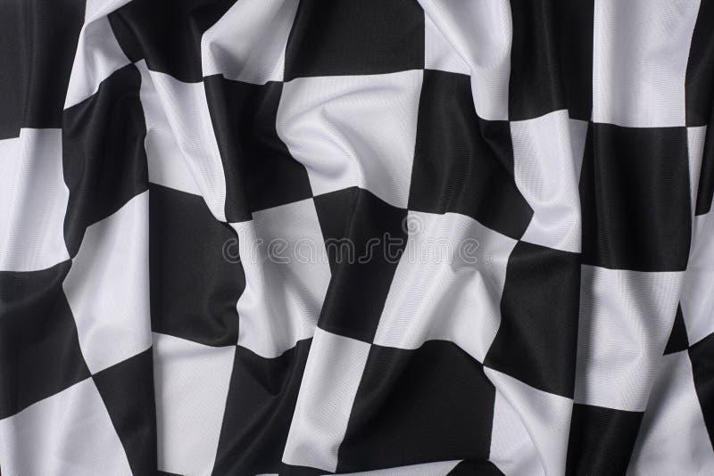 verklig våg för rutig flagga royaltyfria bilder