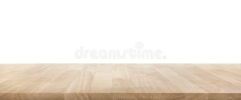 Verklig wood textur för tabellöverkant på vit bakgrund arkivfoto