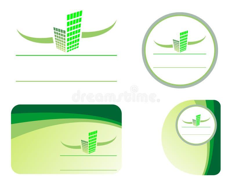 verkligt designelementgods stock illustrationer