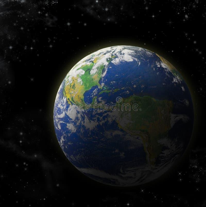 verkligt jordplanet vektor illustrationer