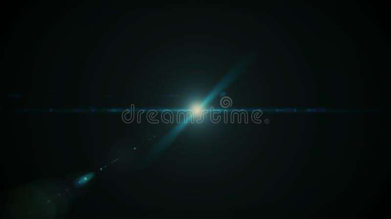 Verkligt Lens signalljusskott i studio ?ver svart bakgrund L?tt att tillfoga som samkopierings- eller sk?rmfilterfoto arkivbilder