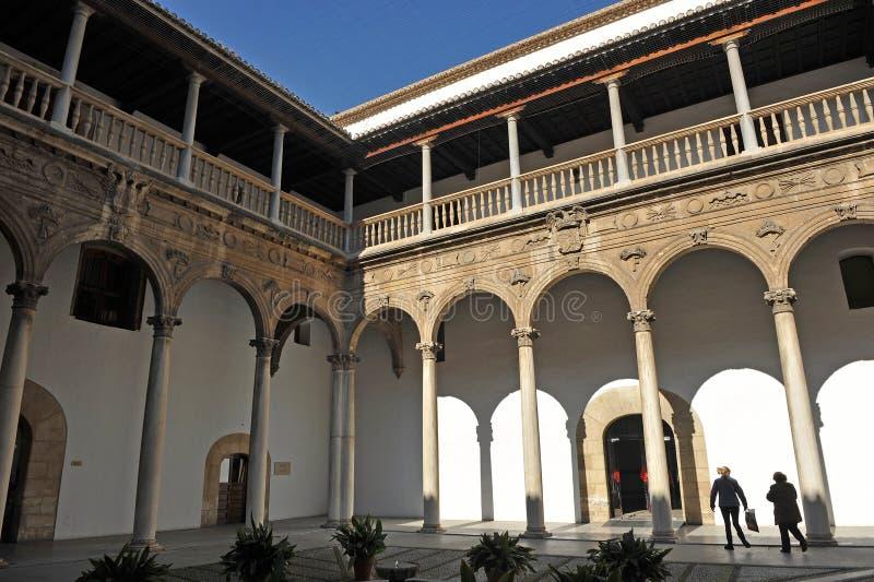 Verkligt sjukhus, Granada, Andalusia, Spanien arkivfoto