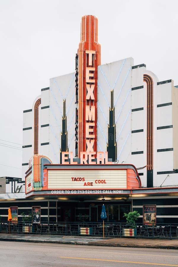 Verkligt Tex-Mex kafé för El, i Montrose, Houston, Texas fotografering för bildbyråer