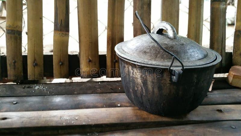 Verkoolde Kokende Pot royalty-vrije stock foto