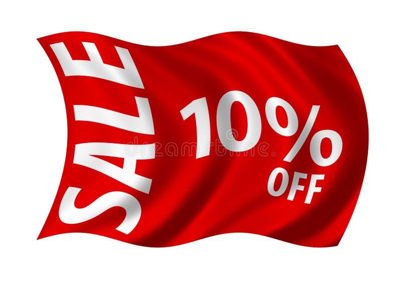 Verkoop 10% weg royalty-vrije illustratie