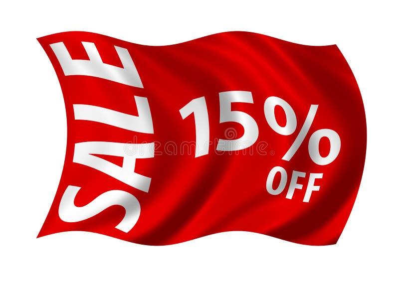 Verkoop 15% weg royalty-vrije illustratie