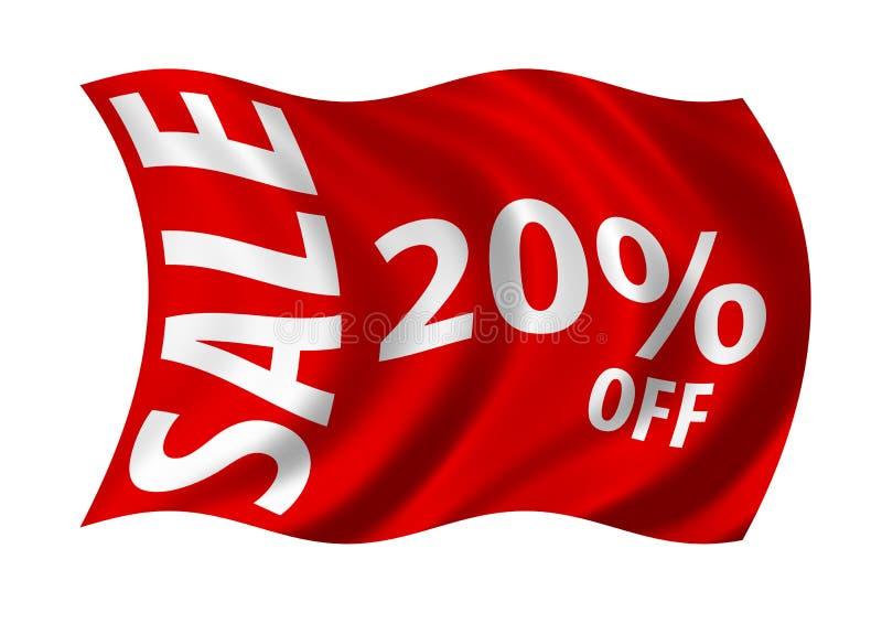 Verkoop 20% weg royalty-vrije illustratie