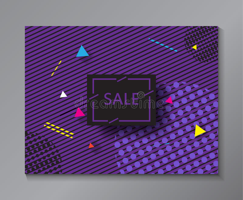 Verkoop Abstracte minimale banner vector illustratie