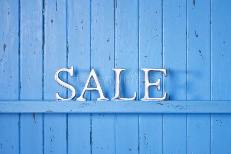 Verkoop Blauwe Achtergrond royalty-vrije stock afbeelding