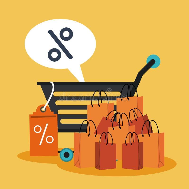 Verkoop en Kortingen stock illustratie