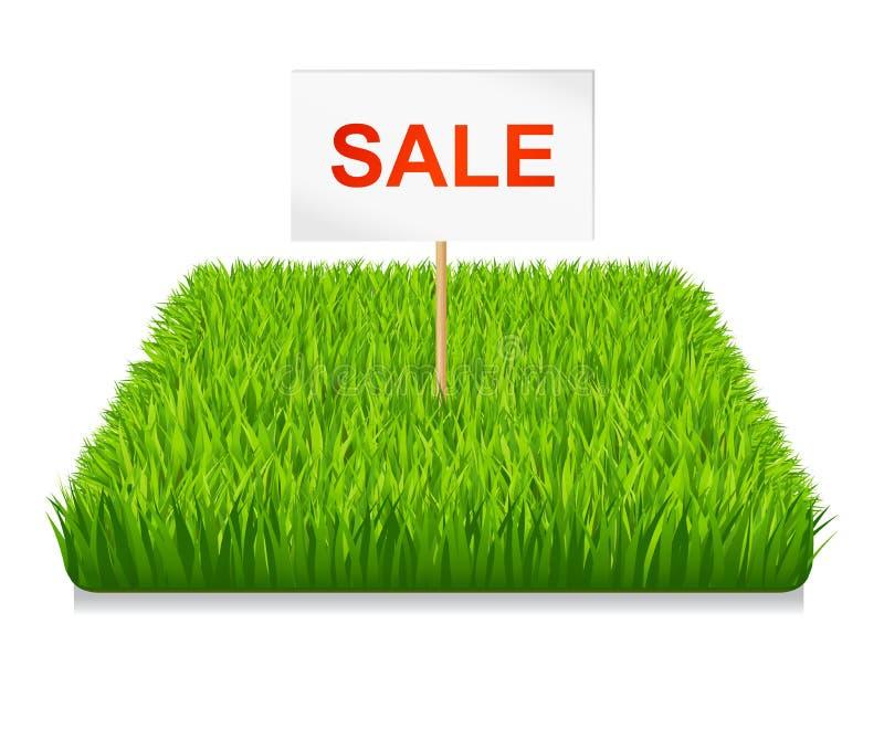 Verkoop. Groen gras stock illustratie