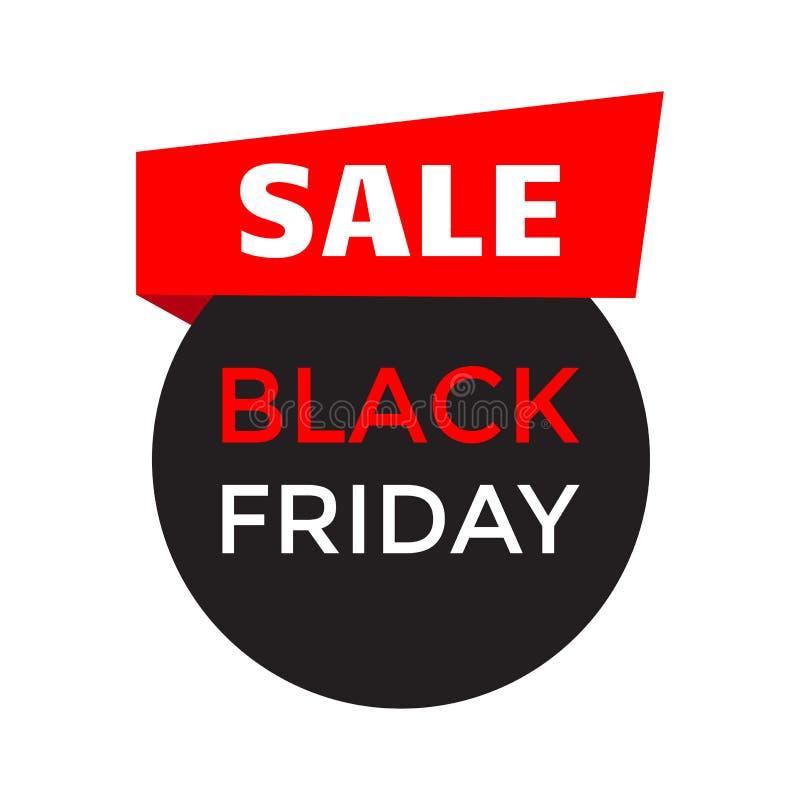 Verkoop Lintbanner voor Black Friday Vector vector illustratie