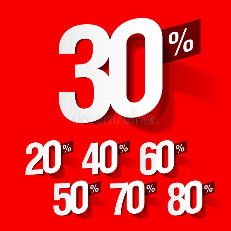 Verkoop percents stock illustratie