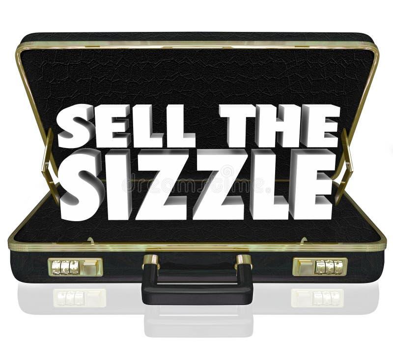 Verkoop sissen 3d van de de Verkooppresentatie van de Woordenaktentas Voordelen W stock illustratie