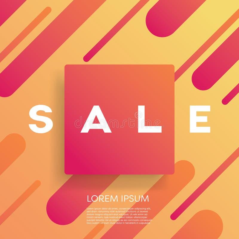 Verkoopaffiche of banner vectormalplaatje met moderne geometrische vorm en kleurrijk ontwerp met heldere aantrekkelijke kleuren vector illustratie