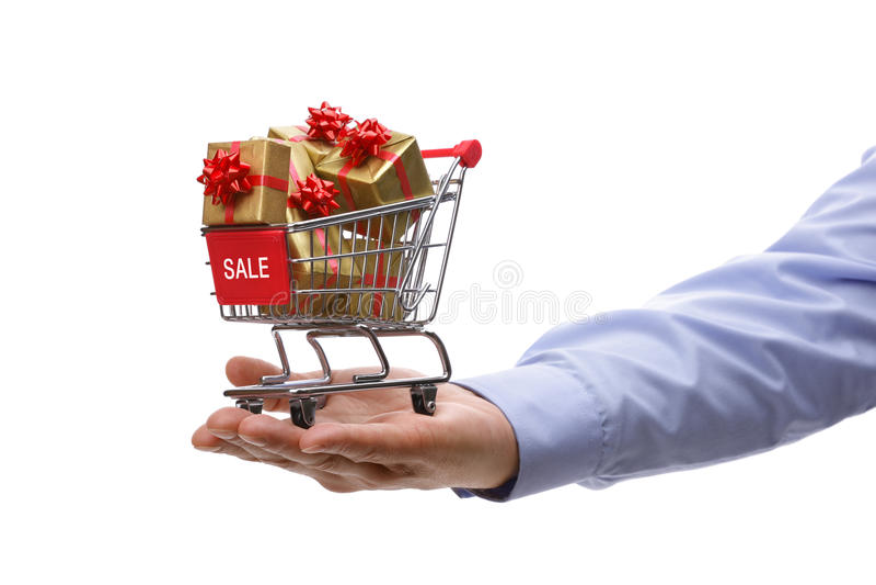 Verkoopgift het winkelen royalty-vrije stock foto