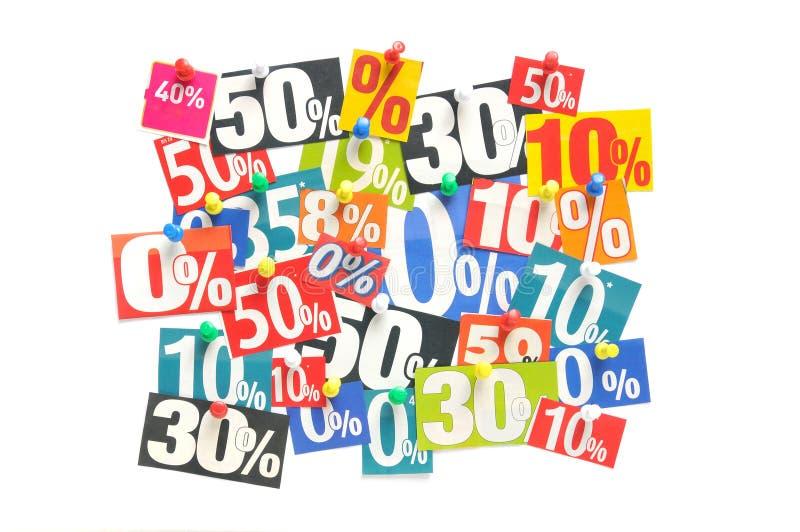 Verkoopkorting stock foto's