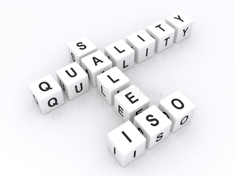 Verkoopkwaliteit ISO in kruiswoordraadsel vector illustratie