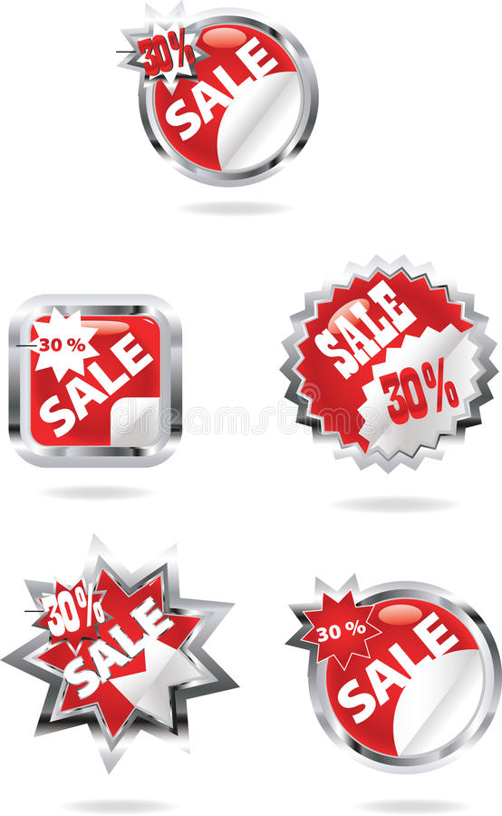 Verkooppictogrammen stock illustratie