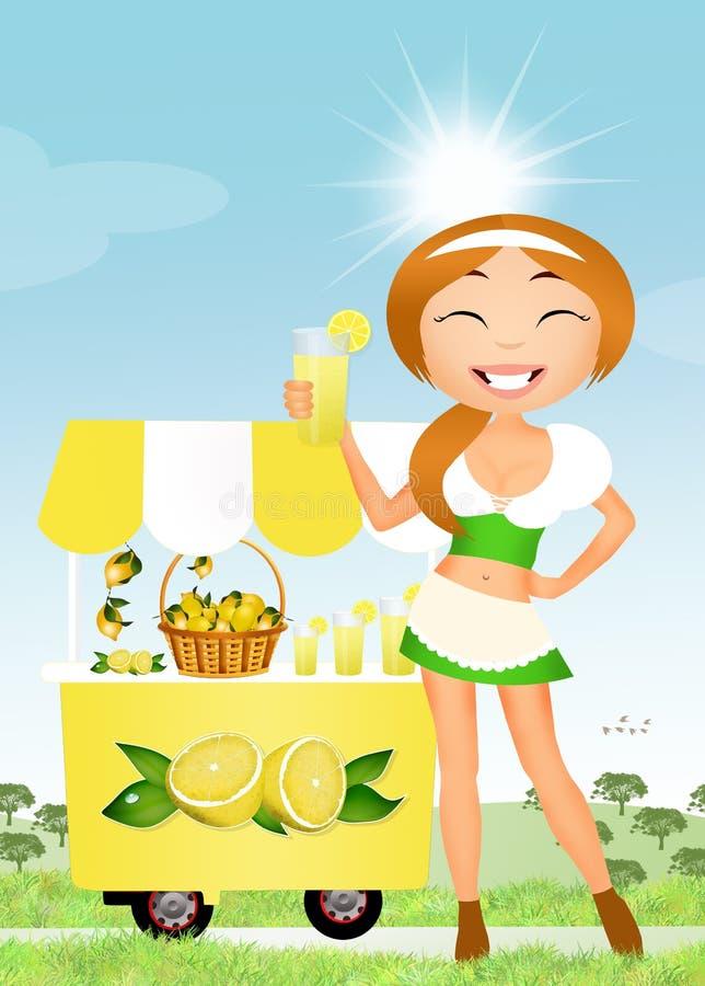 Verkopende limonade stock illustratie